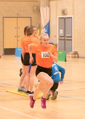 Final sportshall competition of the season at Taverham High School