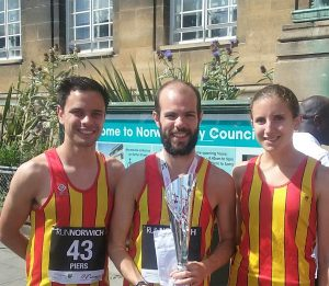 Triumphant Trio at Run Norwich 2016